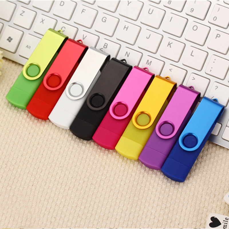 OTG USB Flash Drive 32GB Memory usb stick 16GB 8GB 4GB metal Pendrive 64GB 128GB Pen Drive flash disk For Android phone/Computer цены онлайн