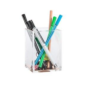 Image 1 - Премиум акриловый и розовое золото карандаш/держатель для ручек Настольный набор офисные аксессуары