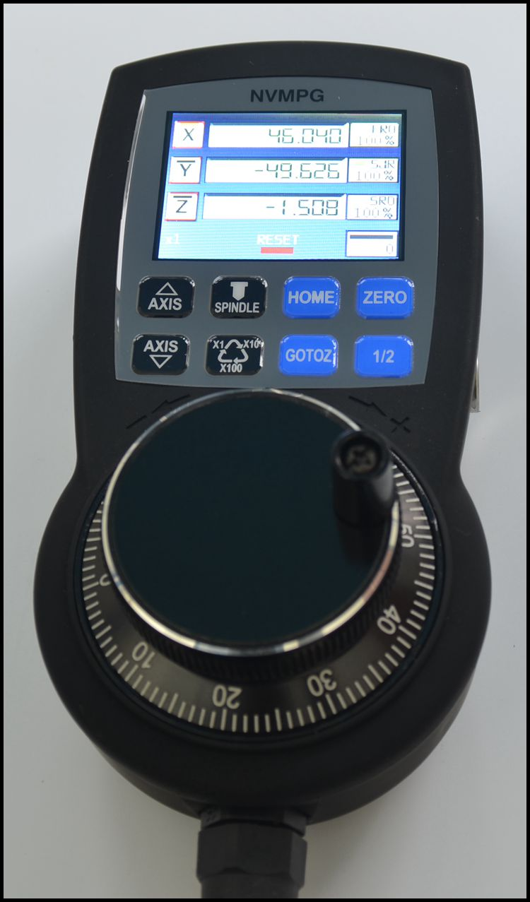 High Mach3 Manual Hand Function Is Complete, Serial Communication with Coordinate Display.