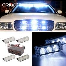 CIRION новейший 3 X4 12 светодиодный автомобильный стробоскопический светильник 12 В аварийная Предупреждение льный светильник Решетка Белый 12 Вт Аврора светодиодный светильник для бездорожья