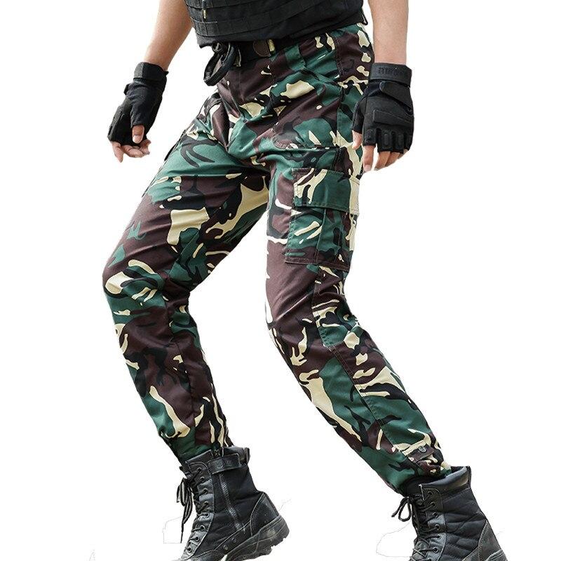 Tactical Camo Pants Mens Militare Cargo Pantalon Homme Army Combat Camouflage Pants Hunter OPS Commando Jungle Woodland Trouser