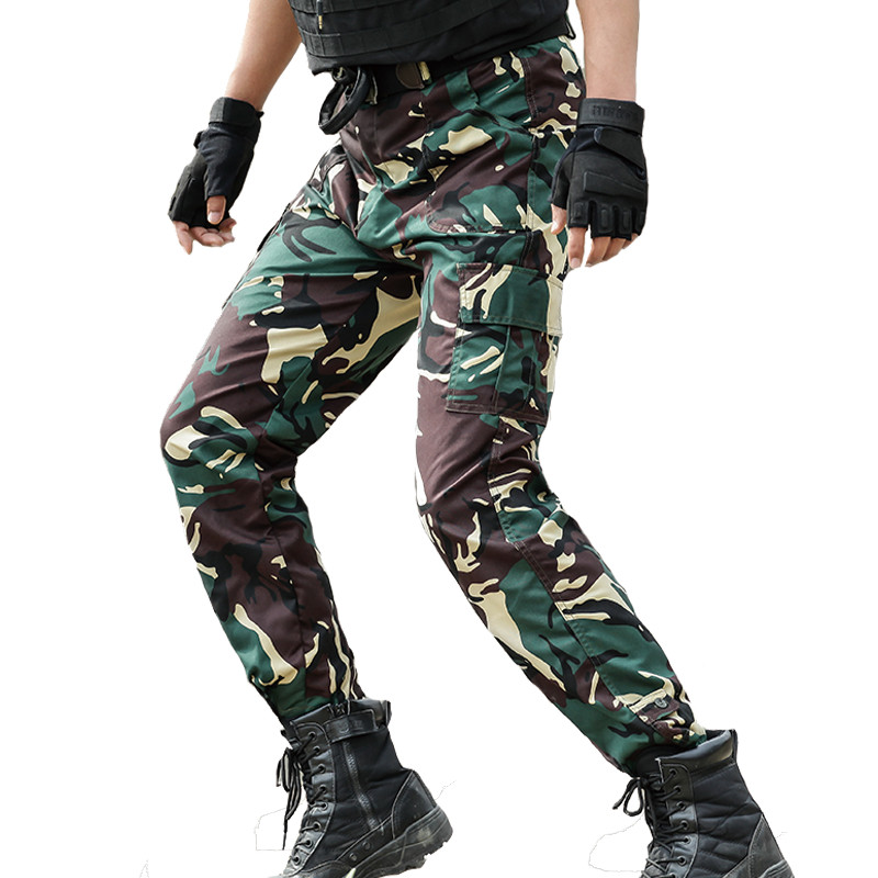 Tactical Commando Trousers Joggers Men Military Cargo Pantalon Homme Army Camouflage Combat Pants Hunter Jungle Woodland Pants