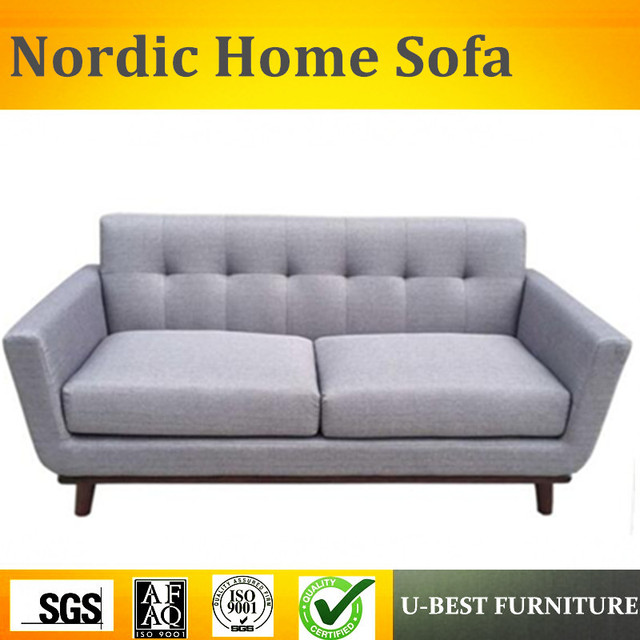 U Best Nordic Style First Layer Linen Fabric Living Room Set Furniture Small Apartment Simple Sofa