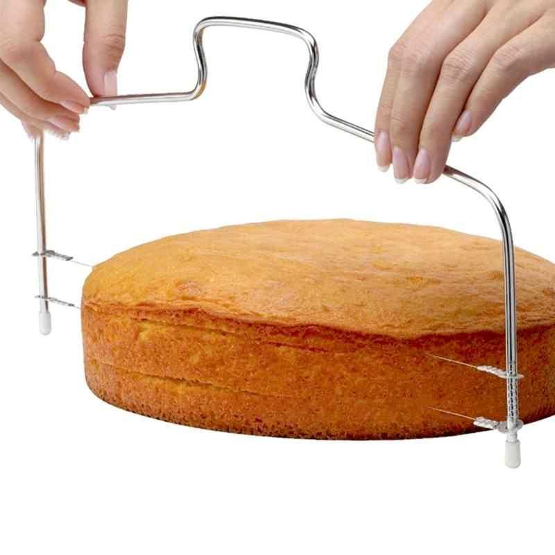 1 pcs Fio Ajustável Bolo Slicer Cortador Leveler Aço Inoxidável Bolo DIY Ferramentas de Cozimento de Alta Qualidade Acessórios de Cozinha