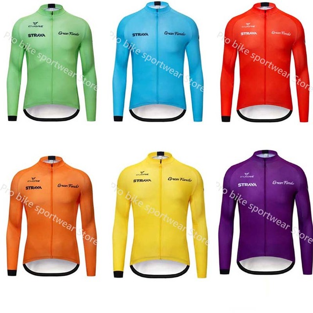 Strava Spring and autumn long sleeve sportswear Racing bicycle Mountain Pro team cycling jersey Ropa ciclismo Hombre Uniformes