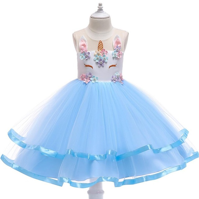 e583f8738069b Summer Dress for Children Flower Girls Dresses Party Wedding Dress Elegent  Princess Vestidos dress for 3 4 5 6 7 8 9 10 years