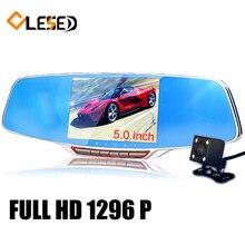Автомобильная камера заднего вида два объектива зеркало Авто DVRs автомобили DVR парковка видеорегистратор регистратор видеорегистратор Full HD 1296 P ночное видение
