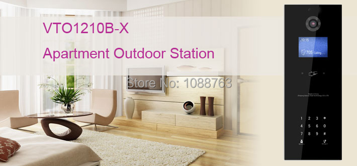 Free Shipping 2016 DAHUA Video Door Phone Building intercom Apartment Outdoor Station touch buttons IP65 Without Logo VTO1210B-X