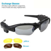 Sports Sunglasses Wireless Bluetooth Headset 4 0 Telephone Polarized Driving Free Replaceable 2 Pair Lens