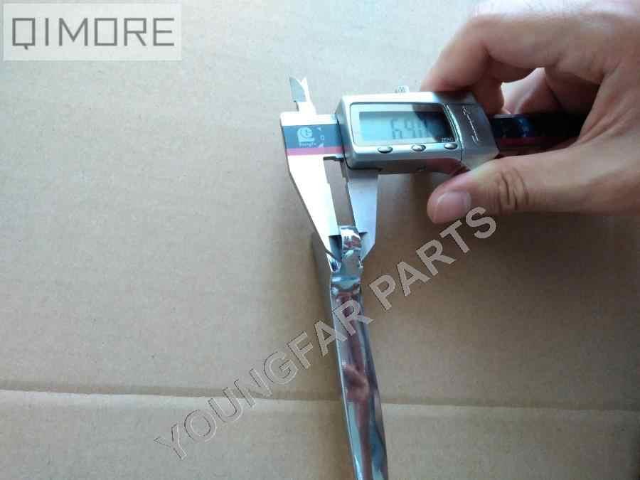 Jenis 2 Chrome Kiri drum brake lever clutch lever untuk Skuter GY6 50 125 150 Tangki Baja Jonway JMSTAR Taotao Sunl Roketa Vento