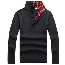 Schnelles verschiffen 2016 winter pullover ärmel männlich pullover jumper rollkragen baumwolle solide polo spieler