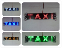 NEW High Quality Third Generation Letter Lights TAXI Led Car Light Suction Cup Double Row 23