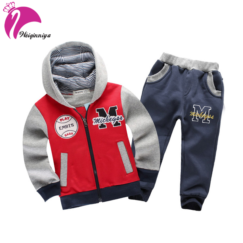 Boys Girls Children Hoodies Winter Wool Baby Sports Suit New 2018 Jacket Sweater Coat & Pants Thicken Kids Clothes Sets children winter coats jacket baby boys warm outerwear thickening outdoors kids snow proof coat parkas cotton padded clothes