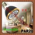 Envío gratis 2 unids Regulable E27 Par20 4X1 W 4 W AC85V-265V Led de Alta Potencia Bombillas LED Proyector de la lámpara downlight iluminación