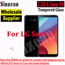 100pcs Sinzean For LG K40/V40/G7/Q7/Q Stylus/K11 PLUS/X SCREEN/K8 2018/Q Stylo 4 Tempered Glass 2.5D 0.3mm 9H Screen Protector(China)