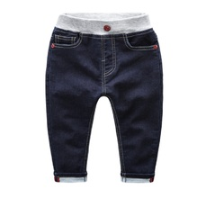Hot Selling Size 90 120 2016 Spring Autumn Solid Children Jeans Pants For Boys Trousers Kids