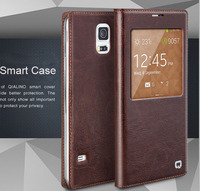 QIALINO For Samsung Galaxy S5 I9600 Leather Case Cover Luxury With View Window Drop Shipping