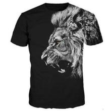 2017 Casual Hip Hop Womens/Mens lion t shirt Roar Short Sleeve Funny 3D Print T-Shirt Summer Tops Tees Plus Size S-5XL R1032