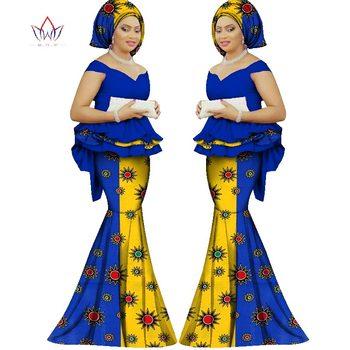 ce9003d658156 Jupe d'été ensemble africain dashiki femmes traditionnel bazin imprimer grande  taille dashiki robes africaines pour femmes costume 2 pièces WY1312