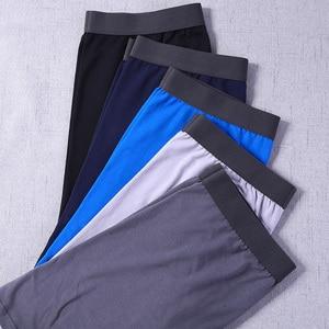 Image 5 - 5 sztuk/partia długie bokserki mężczyźni bokserki dla mężczyzn bawełniane miękkie oddychające męskie bielizna mężczyźni Boxershorts męskie u wypukła US rozmiar S M L XL XXL