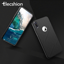 Carbon Fiber Case For iPhone 7 XR Xs Max X Soft TPU Case For iPhone 7 8 Plus 6 6s Business Silicon Luxury Smart Accessories Case carbon fiber leather coated soft tpu case shell for iphone 6s 6 4 7 inch dark blue