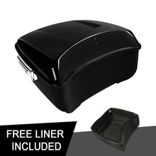 все цены на Motorcycle 13.7'' King Tour Pak Pack Trunk Bag For Harley Touring Road King Road Glide Street Glide Electra Glide 2014-2018 онлайн