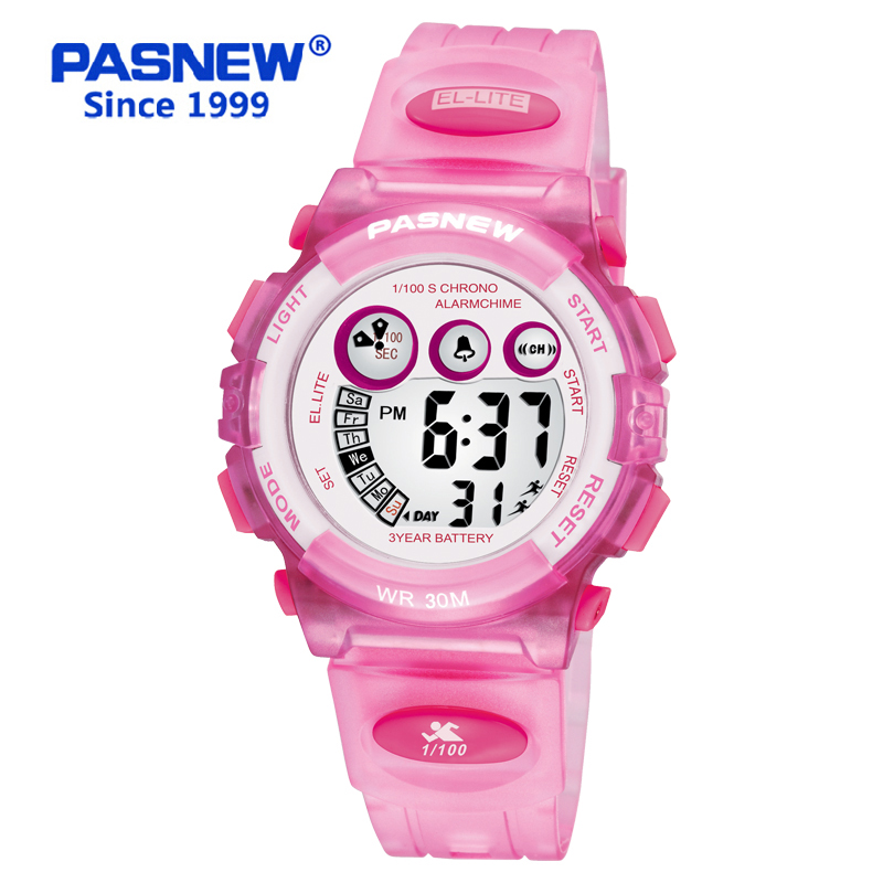 PASNEW Children Digital Watch Sports Wrist Watch for Boys and Girls Waterproof 30M PSE 239G