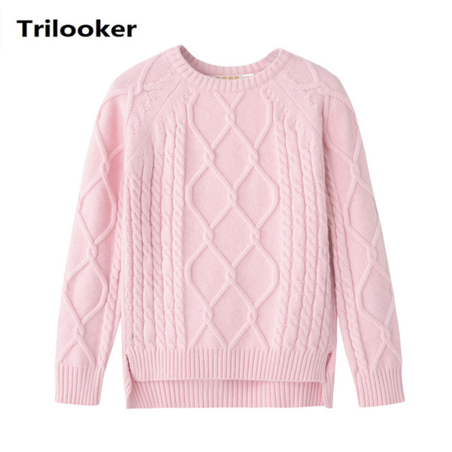b1038fc58ccad3 2 to 8 years kids girls autumn winter cable knit asymmetrical front short  back long casual