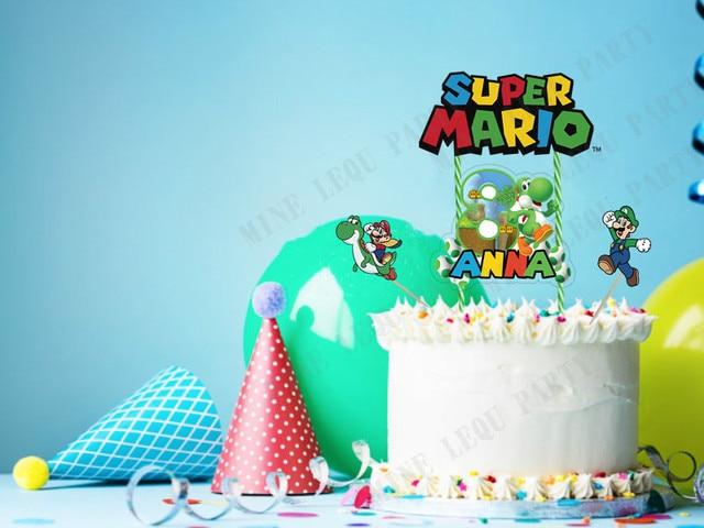 Awe Inspiring Customized Personalized Name Age Super Mario Bros Yoshi Dinosaur Personalised Birthday Cards Akebfashionlily Jamesorg