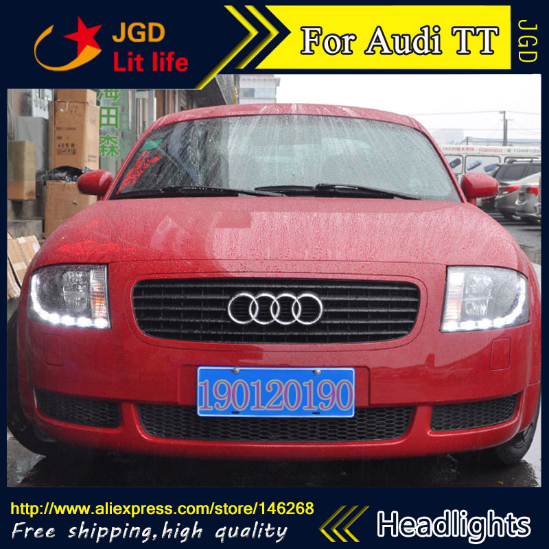 HID LED headlights headlamps HID Hernia lamp accessory products case for Audi TT 1999-2005 Car styling free shipping hid rio led headlights headlight headlamps hid hernia lamp accessory products for great wall haval h3 2005 2010