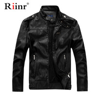 Mens Leather Jackets Autumn Winter Thick Coats Men Velvet Faux Biker Motorcycle Jacket Warm Male Outerwear EUR Size 2XL