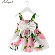 ARLONEET Girls Dresses Baby Girl Clothes Lemon Printed Infant Outfit Sleeveless Princess Gallus Dress E30 Jan15