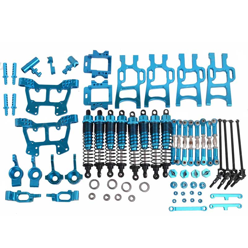 Upgrade Parts Package Blue For HSP RC 1:10 Electric / Nitro Monster Bigfeet Truck 94108 94110 94111 solong tattoo complete tattoo kit 2 pro machine guns 54 inks power supply foot pedal needles grips tips tk244