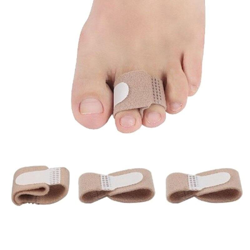 One Piece Toe Finger Straightener Hammer Toe Hallux Valgus Corrector Bandage Toe Separator Splint Wraps Foot Care Supplies