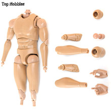 Toys & Hobbies 24.5CM 1/6 Scale Male/Man Body Action Figure V8 Joint Movement PVC Fit 12 Inch Phicen Soldier Doll Muscle HotToys(China)