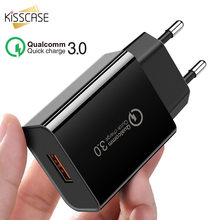 KISSCASE QC 3.0 Universal USB Fast Charger EU US Plug Wall USB Charging Charger Quick Charge Adaptor For iPhone Xiaomi Huawei(China)