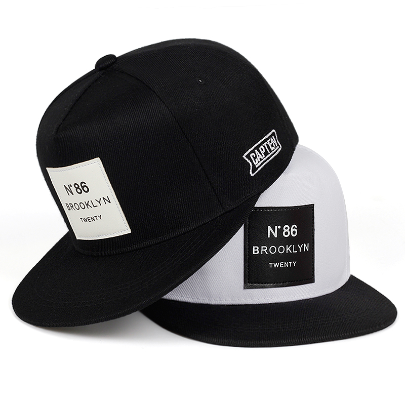 Fashion Men Women BROOKLYN Letters cotton adjustable Baseball Cap Leather label N86 Hip Hop Caps Sun Hat Unisex Snapback Hats(China)