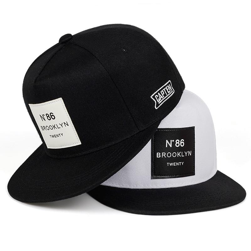 Fashion Men Women BROOKLYN Letters Cotton Adjustable Baseball Cap Leather Label N86 Hip Hop Caps Sun Hat Unisex Snapback Hats