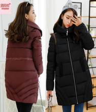 pregnant Winter Jackets Coats 2016 Fashion Pregnant Maternity women Thick Hooded Down Cotton Padded Medium Women Winter Jacket