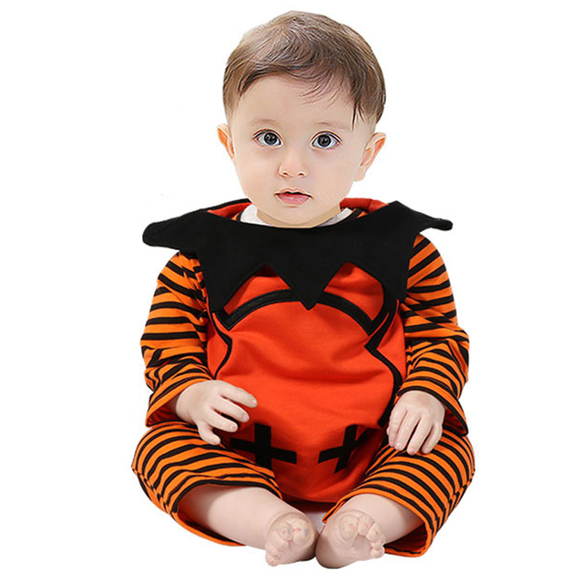 c5c7c944a Baby Romper 3Pcs Halloween Costume Spring Autumn Born Clothes + Boys ...