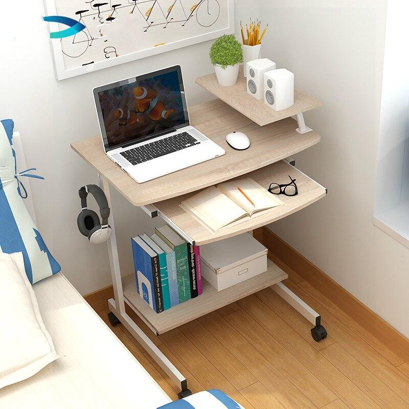 Modern computer desktop desktop mobile notebook simple desk 70cm small desk.