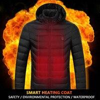 RUELK Intelligent Heating Cotton Clothes Winter Jacket Men Warm Coat Fashion Casual Parka Medium Thickening Coat Men For Winter
