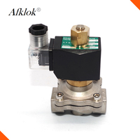 Stainless Steel Normally Open 1/2 inch hydraulic solenoid valve 24v 110V 220V ac