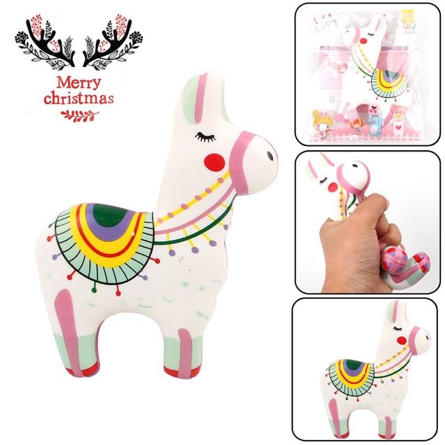 Piadas de natal Colorido Perfumado Super Lento Subindo Pônei Para Aliviar O Estresse Squeeze Toy Bonito # K22