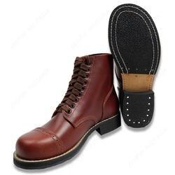 WW2 нам армейские ботинки на плоской подошве; короткие GANG на открытом воздухе сапоги высокого качества по выгодной цене/406103