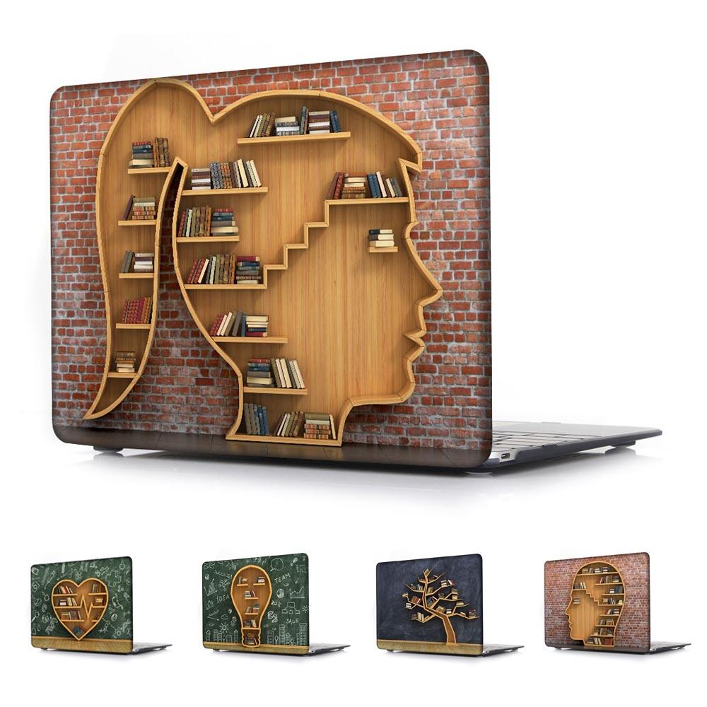 Raft librash unik Retro i zezë Rasti i printuar për Macbook Air Pro - Aksesorë për laptop