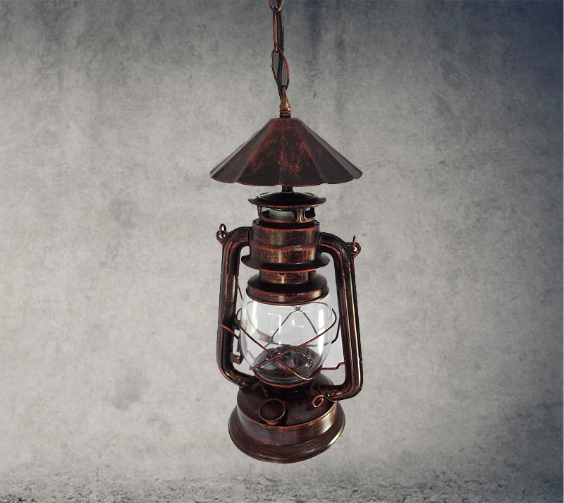 Nordic kerosene lantern vintage bronze chandelier lamp aisle lights wrought iron and creative restaurant lighting engineer GY65 nordic loft vintage american rural countryside creative restaurant bar wrought iron chandelier circle globe lamp lighting wpl226