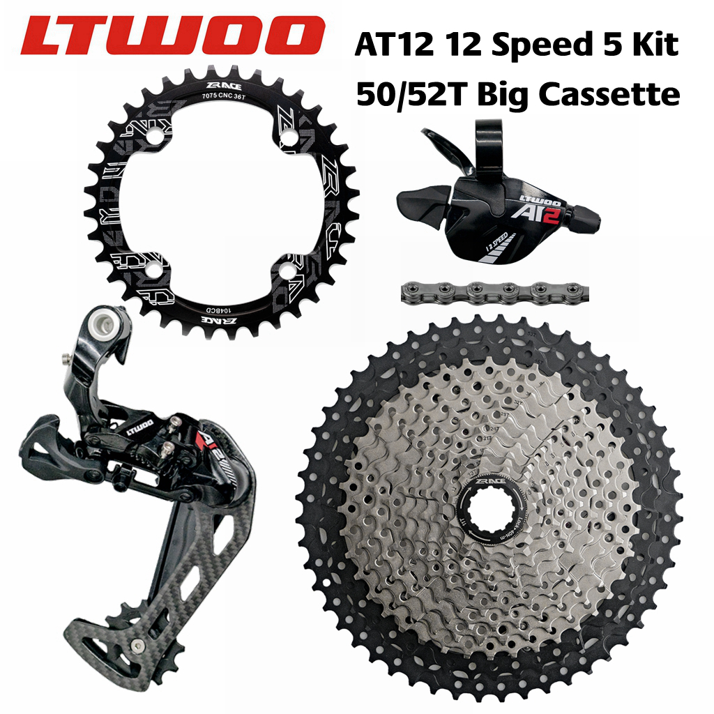 LTWOO AT12 12 Speed Trigger Shifter Rear Derailleur 12s ZRACE Cassette 52T Chainring SUMC S11 Chain