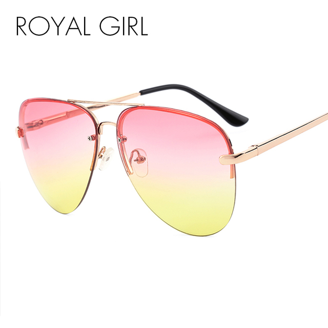 cc9b77bcb1 ROYAL GIRL Women Rimless Sunglasses Classic Brand Chic Sunnies Summer Style  Female Rivet Shades UV400 gafas de sol ss097