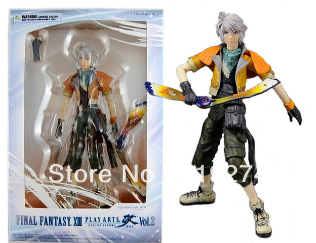"Wholesale/Retail Fashion Free Shipping FS Final Fantasy XIII FF 13 Play Arts Vol.2 Hope Kai 8"" Action Figure"